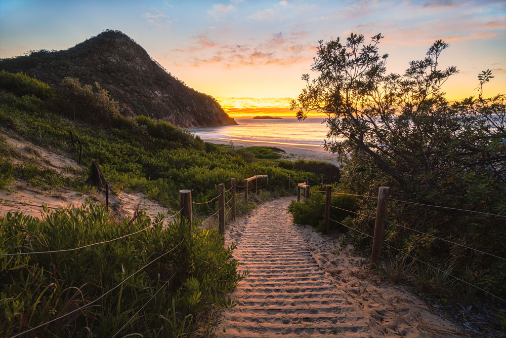 tomaree national park sunrise