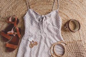flatlay dress summer holiday