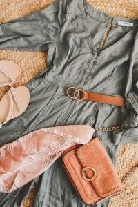 jumpsuit flatlay summer holiday