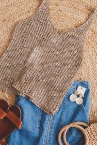 knit top summer holiday