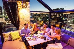 eleven rooftop bar tryp brisbane
