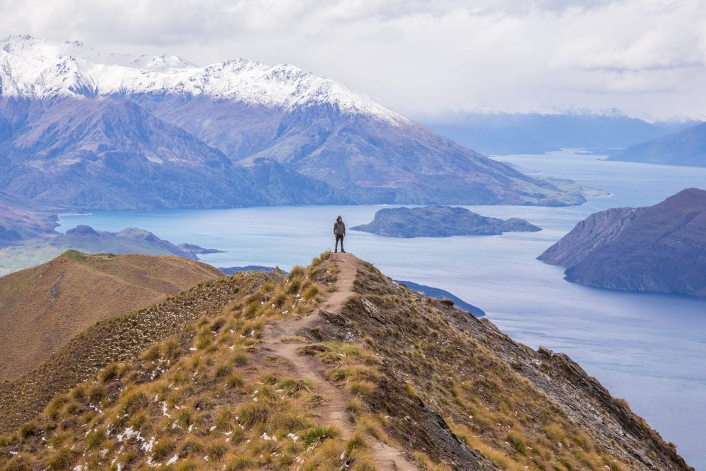 Roy's Peak in summer, a New Zealand summer activity