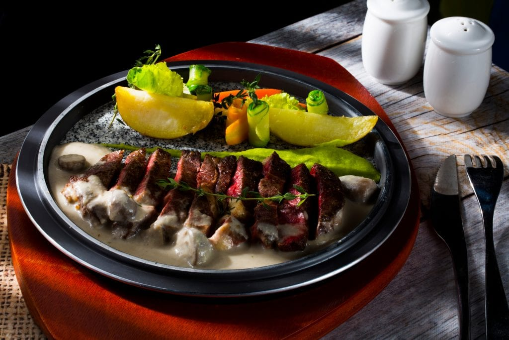 Australian seasonal cuisine steak