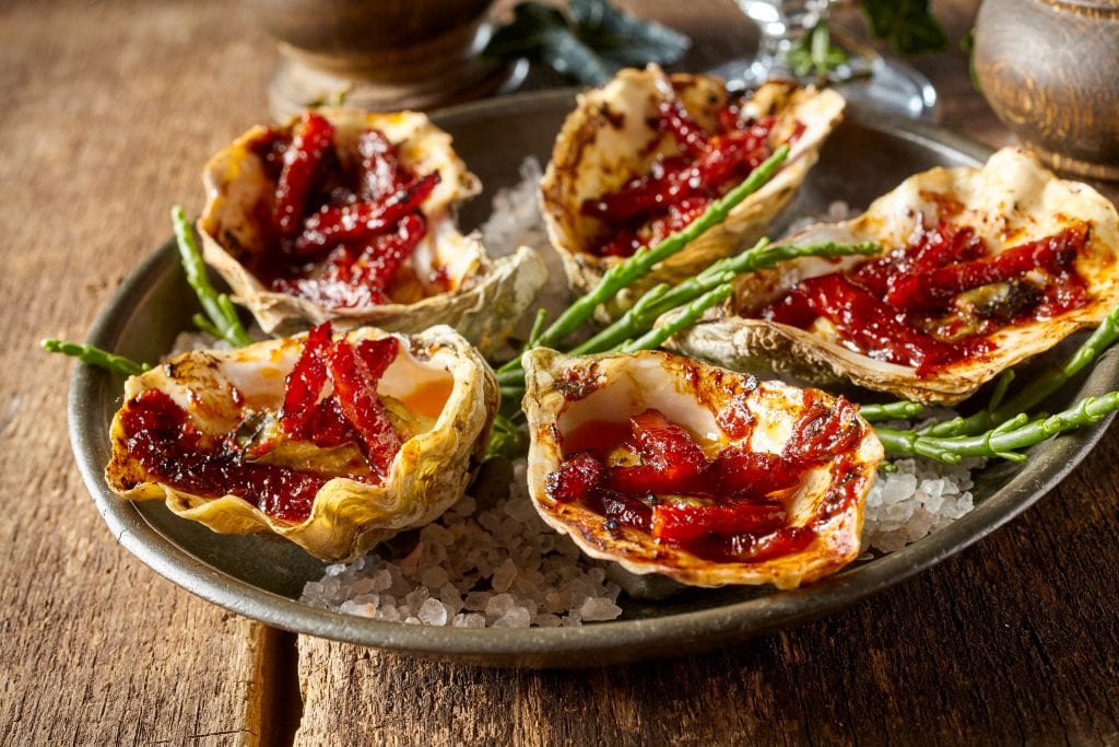 Kilpatrick-style oysters