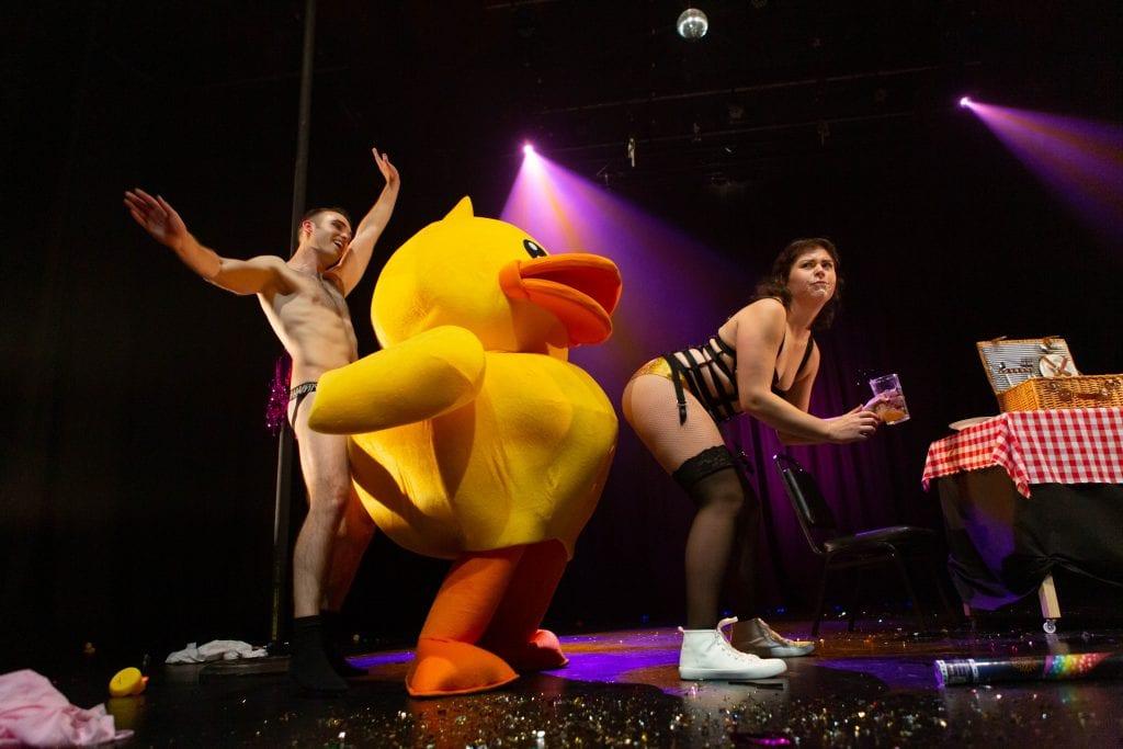 Big Glittery Shitshow duck