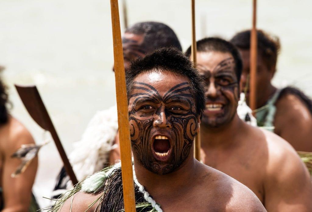 Maori warriors haka Tā moko