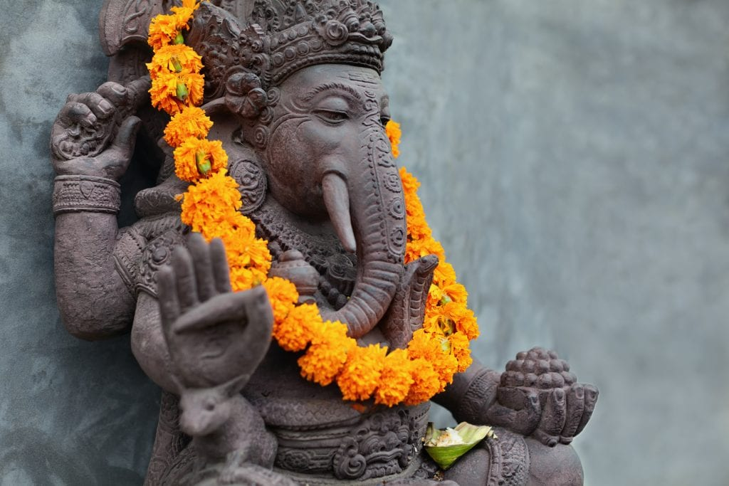 Ganesha balinese god statue