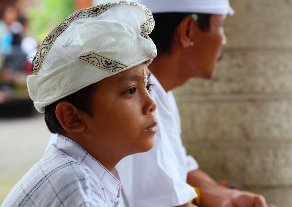 Bali boy sitting