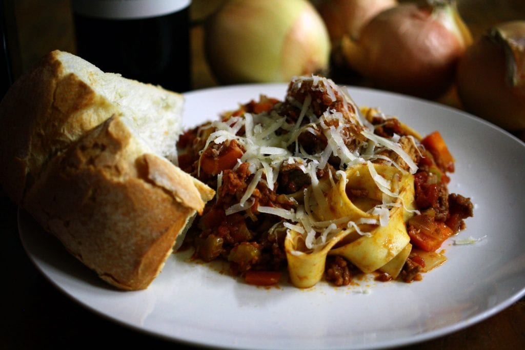 pappardelle beef pork and mince
