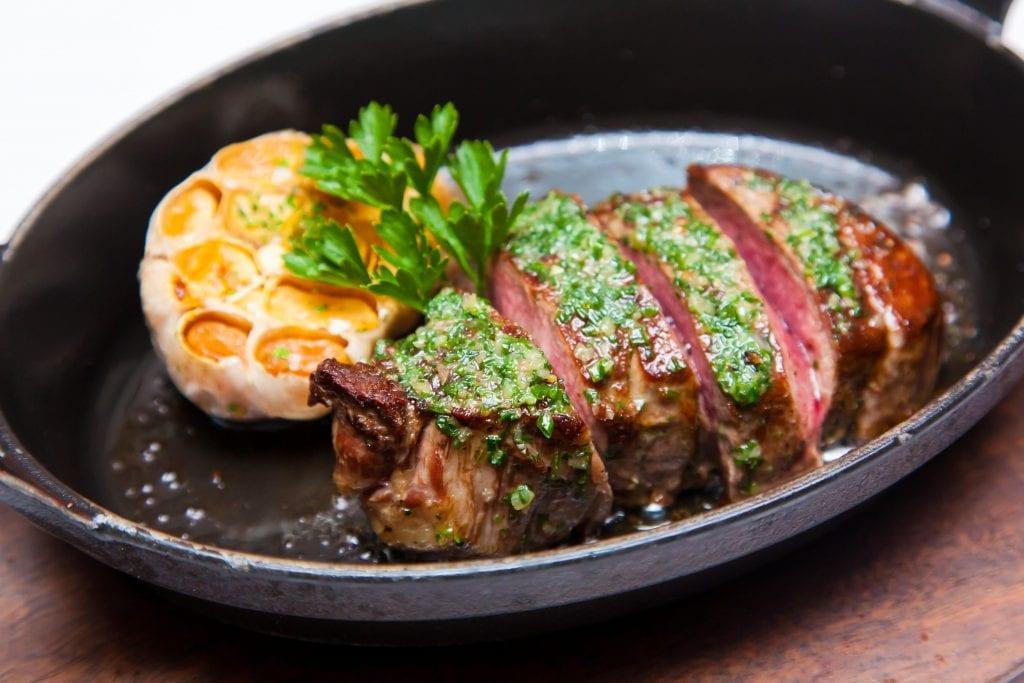 steak at Airlie Beach steakhouse