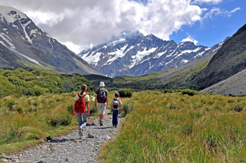 family holiday near Mount Cook