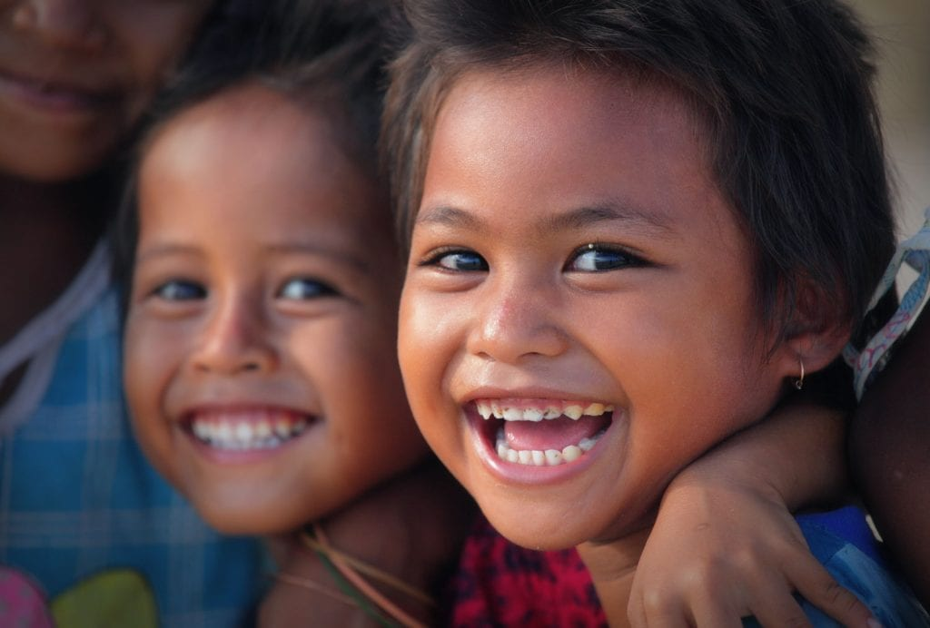 laughing children from Kuta village, Lombok