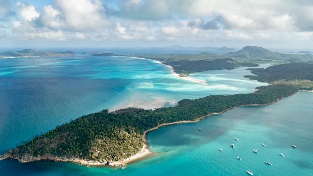 the whitsundays landscape capture from above
