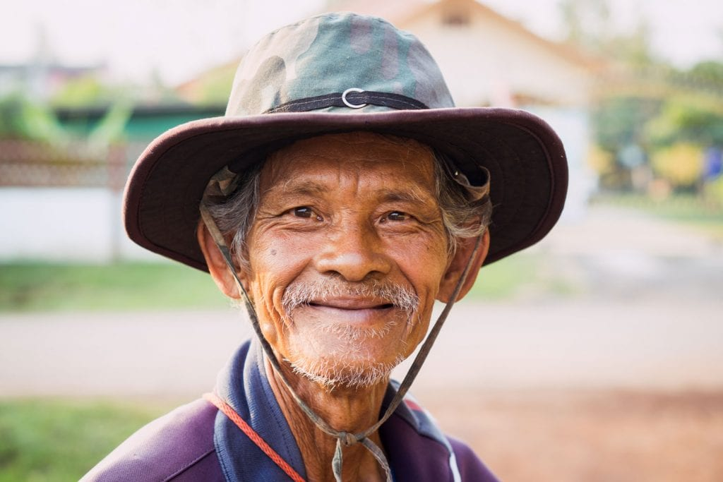 thai farmer smiling