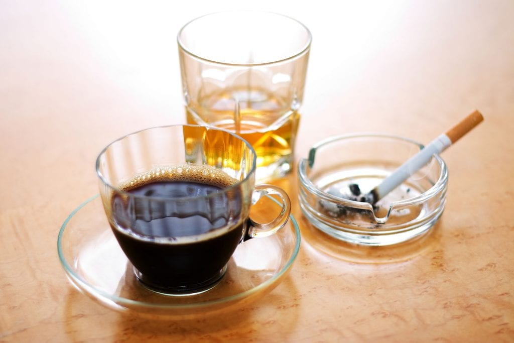 whisky coffee and cigarettes