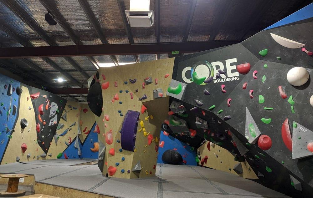 core climbing centre walls