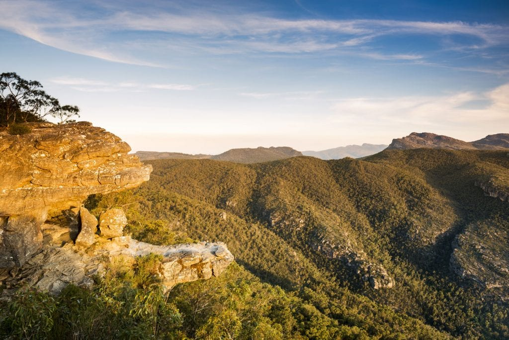 rocky outcrop in the grampians national park