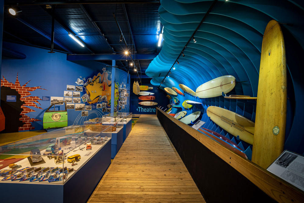 Australian National Surfing Museum displays