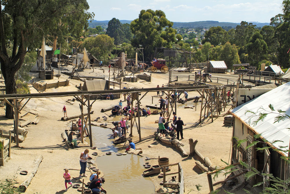 sovereign hill gold panning area